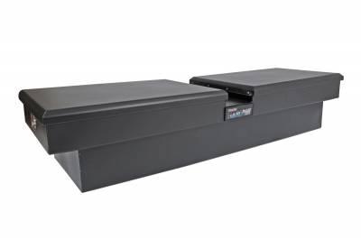 Aluminum - DeeZee Cross Boxes Aluminum - Dee Zee - DEE ZEE TOOL BOX-HARDWARE CROSSOVER-DOUBLE LID BLACK (DZ8370SB)