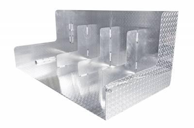 Combo Tanks - DeeZee Combo Tanks Aluminum - Dee Zee - DEE ZEE TOOL BOX-SPECIALTY TANK-COMBO BT ALUM (DZ91740X)