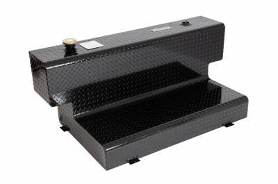 L Shape Tanks - DeeZee L Shape Tanks Aluminum - Dee Zee - DEE ZEE TOOL BOX-SPECIALTY TANK BLACK BT (DZ91747B)