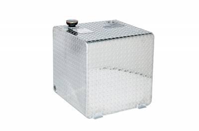 Square Tanks - DeeZee Square Tanks Aluminum - Dee Zee - DEE ZEE TOOL BOX-SPECIALTY TANK BT ALUM (DZ91750)