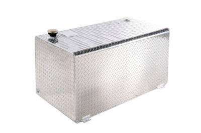 Rectangle Tanks - DeeZee Rectangle Tanks Aluminum - Dee Zee - DEE ZEE TOOL BOX-SPECIALTY TANK BT ALUM (DZ91753X)