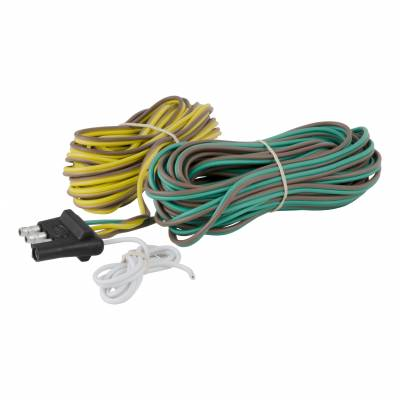 Electrical - Curt Electrical - CURT - CURT 4-WAY FLAT CONNECTOR, FOR USE ON VEHICLES WITH 2-WIRE SYSTEMS (57220)