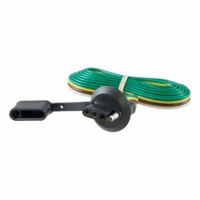Electrical - Curt Electrical - CURT - CURT 4-FLAT CAR TO 4-FLAT TRAILER (58406)