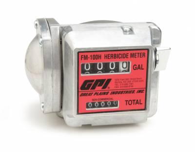 Meters - GPI Meters - GPI - FM100H-G8N mechanical disk meter, 4-20 GPM, 1-inch FNPT