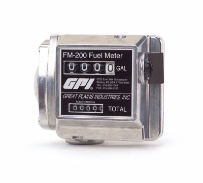 Meters - GPI Meters - GPI - FM-200-G6N mechanical disk fuel flowmeter, 0.75-inch FNPT, 4-20 GPM