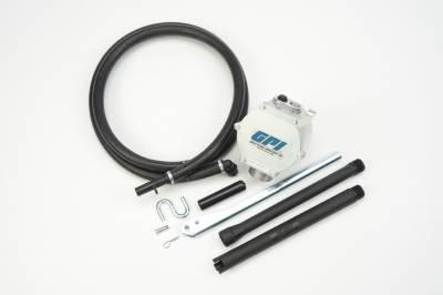 Pumps - GPI Pumps - GPI - HP-90 dual action aluminum piston fuel transfer hand pump, 1 quart per stroke, hose, plastic nozzle and suction pipe
