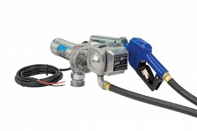 Pumps - GPI Pumps - GPI - M-150S-AU/FM-200-G6N fuel transfer pump/meter, 15 GPM, 12-VDC, 0.75-inch automatic unleaded nozzle, 12-foot x 0.75-inch dispensing hose, 18ft. power cord and adjustable suction pipe