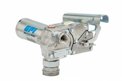 Pumps - GPI Pumps - GPI - M-180S-PO aluminum fuel transfer pump, 18 GPM, 12-VDC, spin collar, 18-foot power cord, accessories sold separately