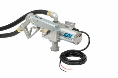 Pumps - GPI Pumps - GPI - M-3020-ML high flow cast iron fuel transfer pump, 20 GPM, 12-VDC, 1-inch manual nozzle, 12-foot fuel hose, 18-foot power cord, adjustable suction pipe