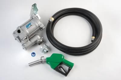Pumps - GPI Pumps - GPI - M-3120-AD, high flow cast iron fuel transfer pump, 20 GPM, 115-VAC, 1-inch x 12-foot hose, automatic diesel nozzle
