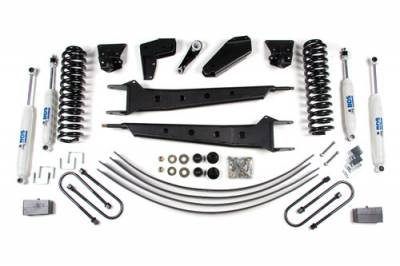 BDS - BDS Suspension Lift Kit - 4in Front RA Std Cab/2in Rear Spring (502H)