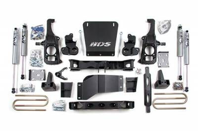 BDS - BDS Suspension Lift Kit - 6.5in Front/5in Rear w/o Overload   -2WD- (196H)
