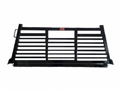 Full Angle - Roughneck 2 Piece Full Angle Rack - Roughneck - ROUGHNECK BLACK BOLT ON HEAD FULL LOUVER (BHRFL-FB)