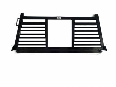 Full Angle - Roughneck 2 Piece Full Angle Rack - Roughneck - ROUGHNECK BLACK BOLT ON HEAD SPLIT LOUVER (BHRSL-FB)