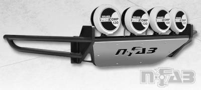 N-Fab - NFAB  RSP PreRunner Front Bumper, Multi-Mount System (MMS) , Gloss Black
