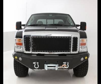 Front - Nfab Front Bumpers - N-Fab - NFAB  FWB Front Bumper, Heavy Duty Winch Bumper, Textured Black