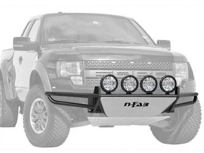 N-Fab - NFAB  RSP PreRunner Front Bumper, Multi-Mount System (MMS) , Textured Black