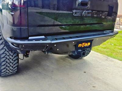 Rear - Nfab Rear Bumpers - N-Fab - NFAB  RBS Rear Bumper, PreRunner Style, Textured Black