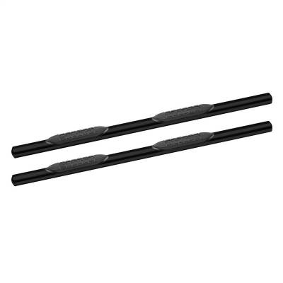Oval Steps - Tuff Bar Oval Steps - Tuff Bar - TUFF BAR 4in Oval Step W/30 Degree Bend Silverado/Sierra 1500 Ext Cab 07-13; 2500/3500HD Ext Cab 07-14 (excl Classic) Black (5-435861)