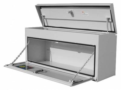 "Steel - RKI Side Mount Steel - RKI - RKI 48"" Steel Upper Side Top Opening Box White (UST48C)"