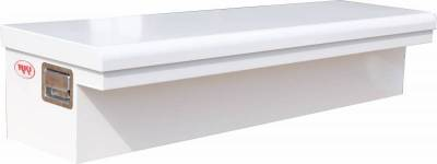 "Steel - RKI Side Mount Steel - RKI - RKI 61"" Steel Side Box Low Profile Wide White (61SLPW)"
