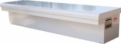 "Steel - RKI Side Mount Steel - RKI - RKI 65"" Steel Side Box Low Profile Wide White (65SLPW)"