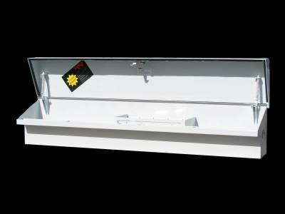 "Steel - RKI Side Mount Steel - RKI - RKI 67"" Steel Side Box Slant Top White (67STS)"