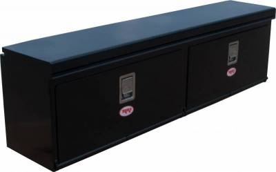 "Steel - RKI Side Mount Steel - RKI - RKI 72"" Steel Upper Side Box 2door Black (US72CB)"