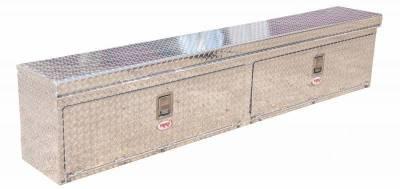 "Aluminum - RKI Side Mount Aluminum - RKI - RKI 96"" ALUM UPPER SIDE TOP OPENING BOX (RKIUST96A)"