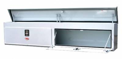 "Steel - RKI Side Mount Steel - RKI - RKI 96"" Steel Upper Side Box Top Opening White (UST96C)"