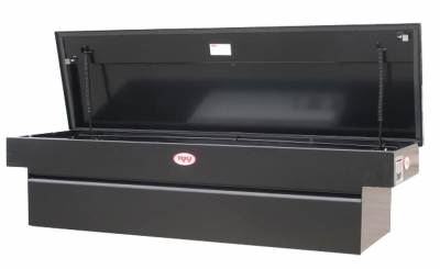 Steel - RKI Cross Boxes Steel - RKI - RKI Steel Cross Box Single Lid Shallow Black-Fullsize Trucks (C63SB)