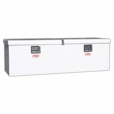 Steel - RKI Chest Boxes Steel - RKI - RKI Steel Chest Box Double Lid White F/8ft Beds (M60-2NM)