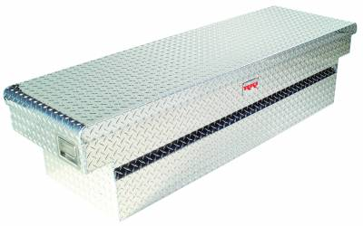 "Aluminum - RKI Cross Boxes Aluminum - RKI - RKI Aluminum Cross Box Single Lid 30"" Wide Shallow White-Fullsize (C63WSAW)"