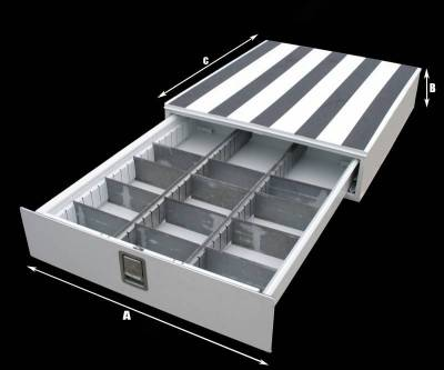 Misc. Utility - RKI Floor Drawer - RKI - RKI FLOOR DRAWER 30 X 10 X 24 WHT (FD301024)
