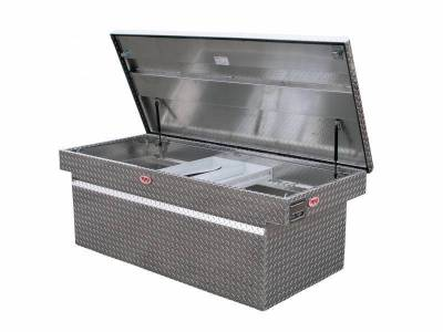 "Aluminum - RKI Cross Boxes Aluminum - RKI - RKI Aluminum Cross Box Single Lid 30"" Wide Deep -Fullsize Trucks (C63WDA)"