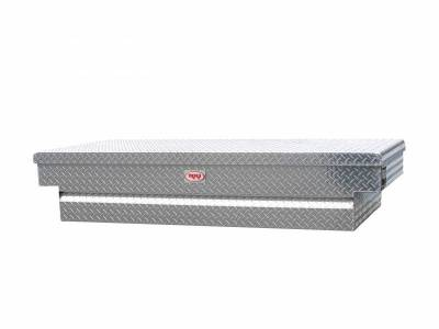 "Aluminum - RKI Cross Boxes Aluminum - RKI - RKI Aluminum Cross Box Single Lid 30"" Wide Shallow -Fullsize (C63WSA)"