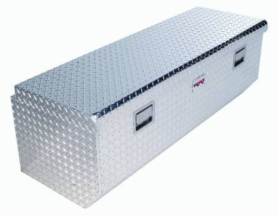 Aluminum - RKI Chest Boxes Aluminum - RKI - RKI Aluminum Chest Box Single Lid W/Offset F/Fullsize (M54U-1NMA)
