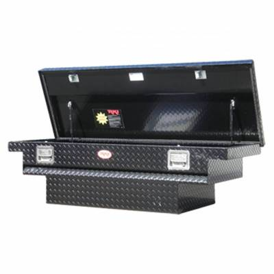 Aluminum - RKI Cross Boxes Aluminum - RKI - RKI Aluminum Cross Box Single Lid Low Profile Black-Compact/Mid Size (C56LPAB)