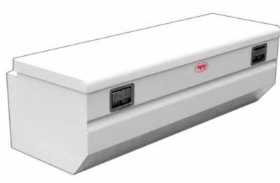 Steel - RKI Chest Boxes Steel - RKI - RKI Steel Chest Box Single Lid W/Mnts White F/Midsize (M54-1)