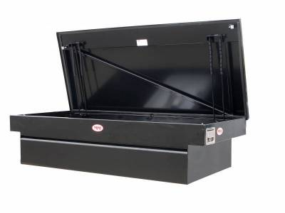 "Steel - RKI Cross Boxes Steel - RKI - RKI Steel Cross Box Single Lid 30"" Wide Black-Fullsize Trucks (C63WB)"