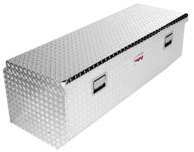 Aluminum - RKI Chest Boxes Aluminum - RKI - RKI Aluminum Chest Box Single Lid W/Offset White F/Fullsize (M54U-1NMAW)