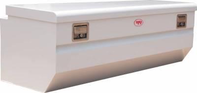 Steel - RKI Chest Boxes Steel - RKI - RKI Steel Chest Box Single Lid W/Offset White F/Fullsize (M58U-1NM)