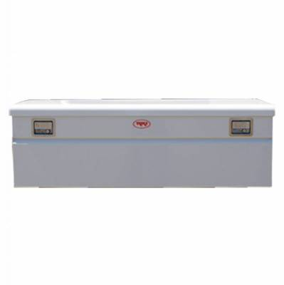 Chest Boxes - Steel - RKI - RKI Steel Chest Box Single Lid White F/5th Wheel Trailer (M60FW-1NM)