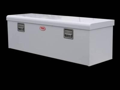 Steel - RKI Chest Boxes Steel - RKI - RKI Steel Chest Box Single Lid White F/Midsize Trucks (M54-1NM)