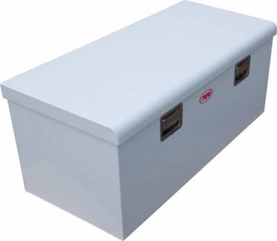 Steel - RKI Chest Boxes Steel - RKI - RKI Steel Chest Box Single Lid White F/Sportside/Midsize (M45-1NM)
