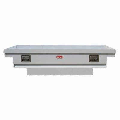 Steel - RKI Cross Boxes Steel - RKI - RKI Steel Cross Box Single Lid Low Profile White-Compact/Mid Size (C56LP)