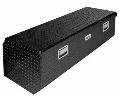 Aluminum - RKI Chest Boxes Aluminum - RKI - RKI Aluminum Chest Box Single Lid Black F/8ft Beds (MTB60-1NMAB)
