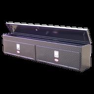 "Aluminum - RKI Side Mount Aluminum - RKI - RKI 90"" ALUM UPPER SIDE BOX (2DOOR) BLK (RKIUS90AB)"
