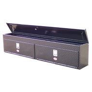 "Aluminum - RKI Side Mount Aluminum - RKI - RKI 96"" ALUM UPPER SIDE BOX (2DOOR) BLK (RKIUS96AB)"