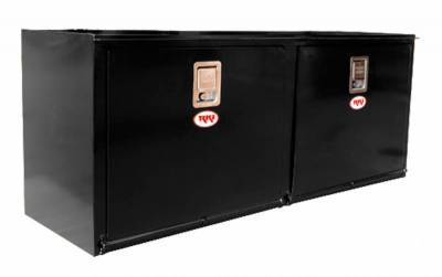Steel - RKI Under Body Boxes Steel - RKI - RKI STEEL UNDERBODY 60X24X18 2 DOORS BLK (RKIH602418-2)